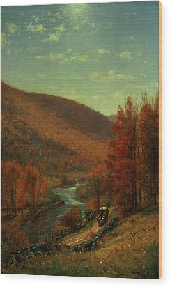 Road Through Belvedere Wood Print by Thomas Worthington