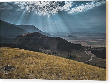 Road To Curtis Canyon Wood Print