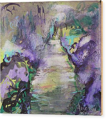 Road To Euphoria Wood Print by Anne-D Mejaki - Art About You productions