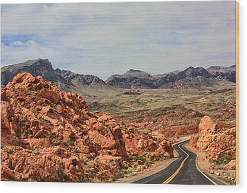 Wood Print featuring the photograph Road To Fire by Tammy Espino