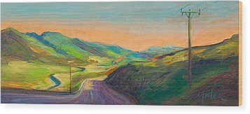 Road To Horse Tooth Wood Print by Athena  Mantle