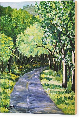 Road To Margalla  Wood Print