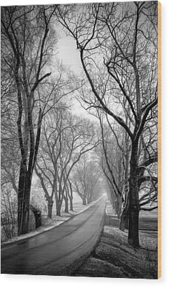 Road To Meems Bottom Bridge Wood Print by Williams-Cairns Photography LLC