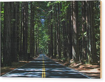 Road To Mendocino Wood Print