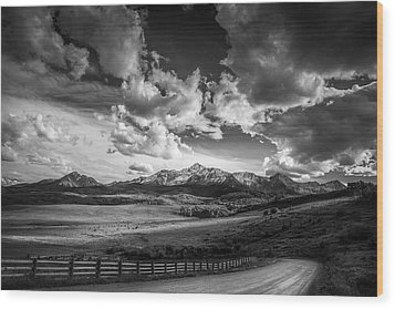 Wood Print featuring the photograph Road To The Mountains by Andrew Soundarajan