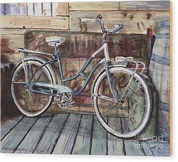 Roadmaster Bicycle Wood Print