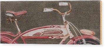 Roadmaster Wood Print by Glenda Zuckerman