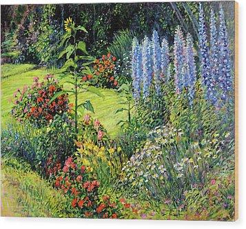 Roadside Garden Wood Print by Steve Spencer