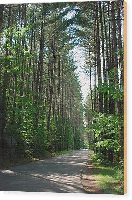 Roadway At Fish Creek Wood Print by Jerrold Carton