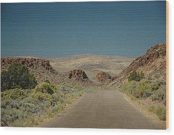 Roadway To Peace Wood Print by Lori Mellen-Pagliaro