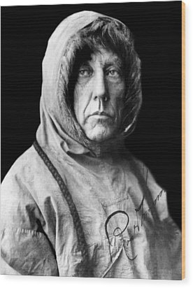 Roald Amundsen, The First Person Wood Print by Everett