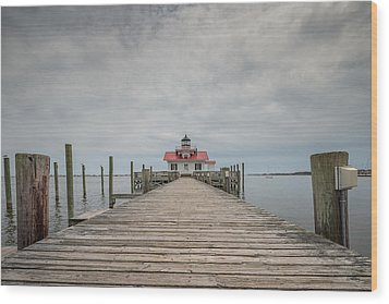 Outer Banks North Carolina Roanoke Marshes Lighthouse Wood Print by Rick Dunnuck