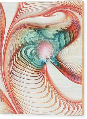 Wood Print featuring the digital art Roar Of A Dragon by Anastasiya Malakhova