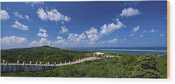 Roatan Lookout Wood Print by Ryan Heffron
