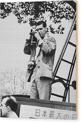 Robert Capa (1913-1954) Wood Print by Granger