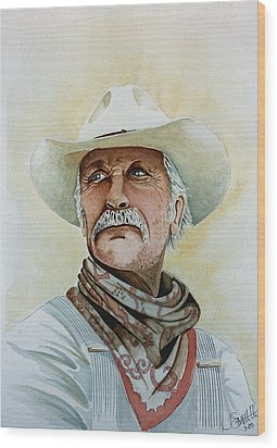 Robert Duvall As Augustus Mccrae In Lonesome Dove Wood Print by Jimmy Smith