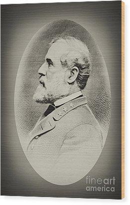 Robert E Lee - Csa Wood Print