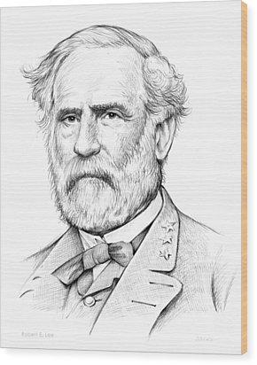 Robert E. Lee Wood Print