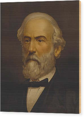 Robert E Lee Wood Print by War Is Hell Store