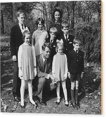 Robert F. Kennedy And Family, Top, L-r Wood Print by Everett
