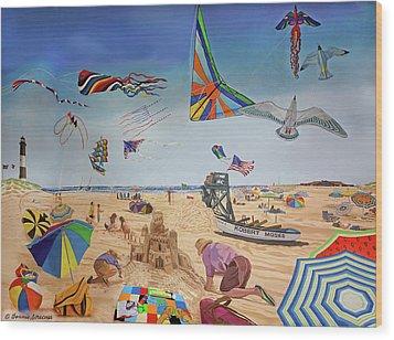 Robert Moses Beach Wood Print by Bonnie Siracusa