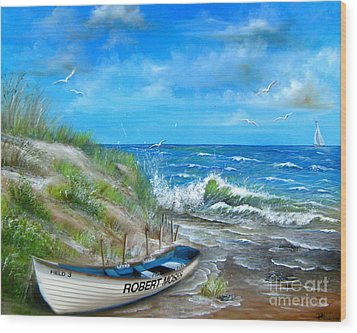 Robert Moses Beach Wood Print by Patrice Torrillo