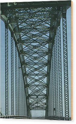 Robert Moses Causeway Bridge Wood Print by Christopher Kirby