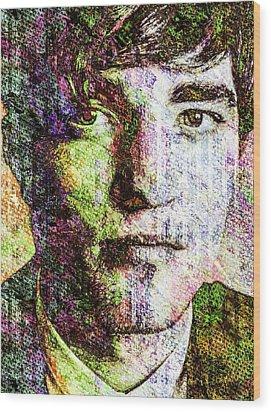 Robert Pattinson Wood Print