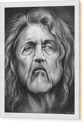 Robert Plant Wood Print by Greg Joens
