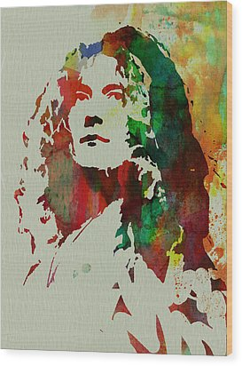 Robert Plant Wood Print by Naxart Studio