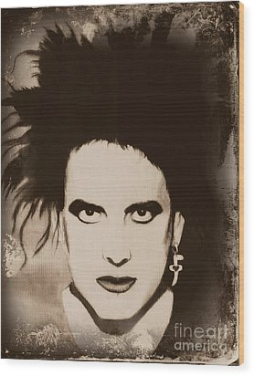 Robert Smith The Cure Wood Print by Jeepee Aero