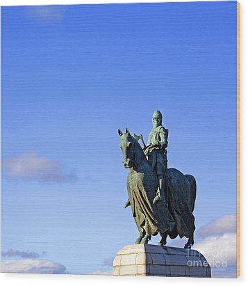 Wood Print featuring the photograph Robert The Bruce King Of Scots  by Craig B