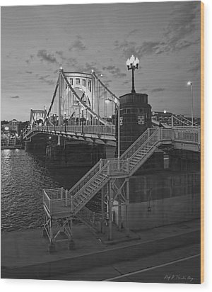 Roberto Clemente Bridge Wood Print by Dirk VandenBerg