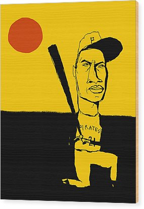 Roberto Clemente Pittsburgh Pirates Wood Print by Jay Perkins