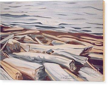 Roberts Creek, Sunshine Coast, B.c. Wood Print