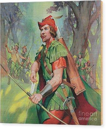 Robin Hood Wood Print by James Edwin McConnell