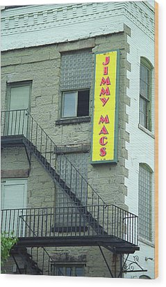 Wood Print featuring the photograph Rochester, New York - Jimmy Mac's Bar 2 by Frank Romeo