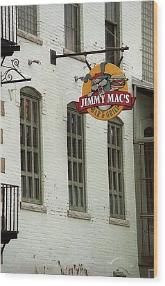 Wood Print featuring the photograph Rochester, New York - Jimmy Mac's Bar 3 by Frank Romeo