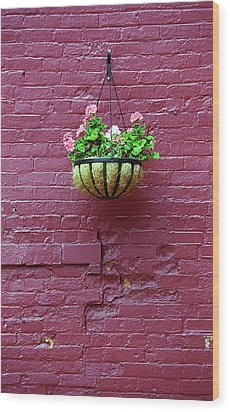 Wood Print featuring the photograph Rochester, New York - Purple Wall by Frank Romeo