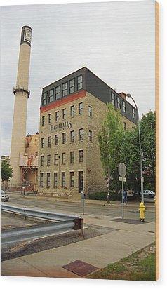 Rochester, New York - Smokestack 2005 Wood Print by Frank Romeo