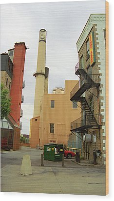 Rochester, Ny - Behind The Bar And Factory 2005 Wood Print by Frank Romeo