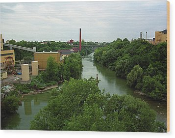 Rochester, Ny - Genesee River 2005 Wood Print by Frank Romeo