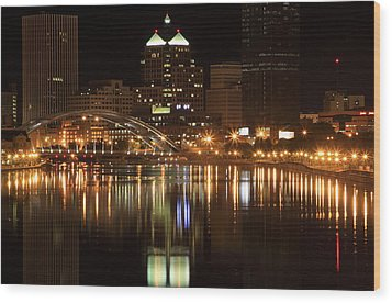 Rochester On The Genesee Wood Print by Don Nieman