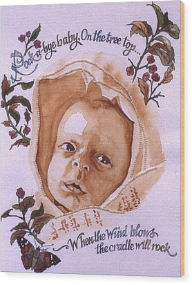 Rock A Bye Baby Wood Print by Victoria Heryet