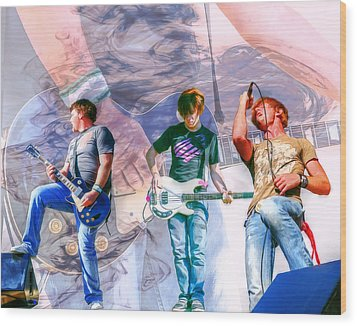 Rock And Roll Band Version 1 Wood Print by Randy Steele