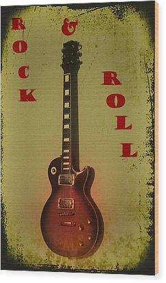 Rock And Roll Wood Print by Bill Cannon