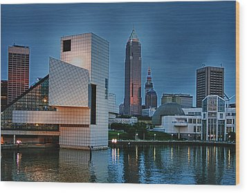 Rock And Roll Hall Of Fame And Museum Wood Print by Richard Gregurich