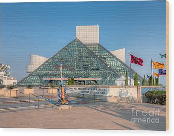 Rock And Roll Hall Of Fame I Wood Print by Clarence Holmes
