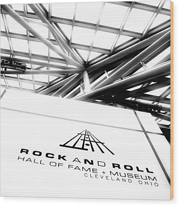 Rock And Roll Hall Of Fame Wood Print by Kenneth Krolikowski