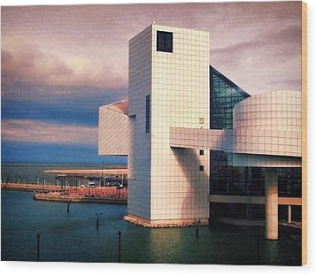 Rock And Roll Hall Of Fame Wood Print by Shawna Rowe